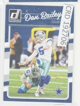 2016 Panini Donruss Dan Bailey K Dallas Cowboys #84  192706 - $1.86