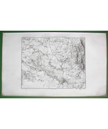 1859 ANTIQUE MAP - Czech Republic Environs of Bautzen or Budysin - $20.24