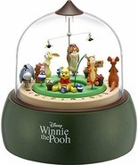 New! Disney Winnie the Pooh Clock Diorama Music Box Japan F/S - $261.79