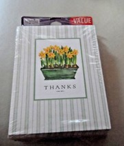 Heartline 25 Thank you notes and envelops with daffodils - $6.95