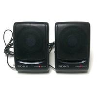 Vintage Sony SRS-28 Speaker System Japan Dual 2 Speakers Pair Black - $39.25 CAD