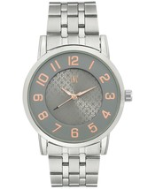 I.N.C. International Concepts Men's Silver-Tone Link Bracelet Watch 42mm NIB