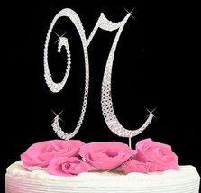 Letter N - Swarovski Crystal Monogram Wedding Cake Topper Letter - $21.86