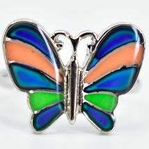 Kid's Fashion Silver Tone Butterfly Color Changing Fashion Adjustable Mood Ring image 4