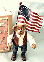 "Boyds Shoe Box Bear ""Patrick"" 4.5"" Patriotic Bear- #3249-  NIB- 2004 -Retired - $29.99"