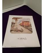 """Emmett Kelly Jr 8"""" X 10"""" Print~ Waiting At Train Station - $6.92"""