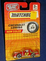 Matchbox Mid 90s Release # MB 54 Chevrolet Lumina Stock Car NEW COLOR Red - $5.00
