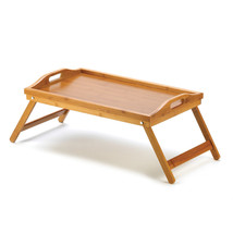 Wooden Tray For Breakfast In Bed, Serving Tray With Legs, Bamboo - $25.99