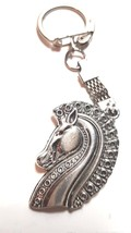 grecian horse troy  metal keychain keyring red dot