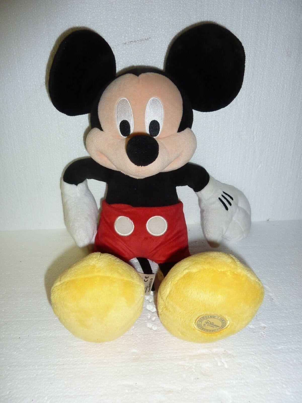 "Disney Store Mickey Mouse Plush 18"" Exclusive Authentic Logo Stuffed Animal C-10"