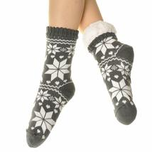 Angelina Women's 3 Pack Christmas Sherpa Lined Thermal Socks with Gift Tags image 3