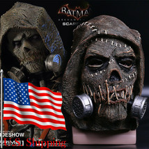 Scarecrow Mask from Batman Arkham Knight Cosplay Full Head Latex Mask Ha... - $41.43