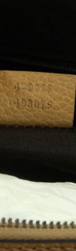 NWT Gucci 341504 Convertible Mini Dome Leather Crossbody Bag, Whisky