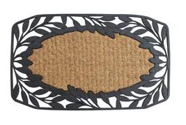 Rubber Leafy DoorMat Outdoor Decor - $16.92