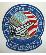 NASA Space Shuttle Astronaut Logo Patch~Embroidered~2 7/8 x 3 1/8~FREE S... - $4.75