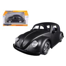 1959 Volkswagen Beetle Satin Metallic Gray with 5 Spoke Wheels 1/24 Diec... - $30.14