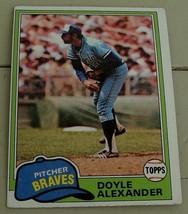 Doyle Alexander, Braves,  1981  #708  Topps  Baseball Card GD COND - $0.99