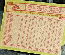 1985 Topps Pete Rose #18-MGR Reds  AA20-BTC3032 Baseball Trading Cards # 600 image 2
