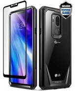 LG G7 ThinQ Cover Full-Body Rugged Clear Bumper Case Guardian Scratch Re... - $18.79