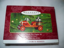 Hallmark Keepsake Ornament 1924 Toledo Fire Engine #6 Kiddie Car Classics - $12.86