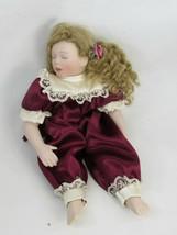 Vintage Kathy Hippensteel Small Doll Ashton Drake 1995 Porcelain 50090 - $19.79