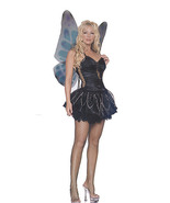 Wicked Black Fairy Costume with Wings Black Pixie Gothic Fairy LA8945 M/L - $59.99