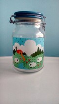 Decorated Country Theme Vintage Le Parfait Glass 2 Quart Storage Jar w/ ... - $14.03