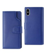Reiko iPhone X Genuine Leather Wallet Case With Open Thumb Cut In Ultram... - $29.99