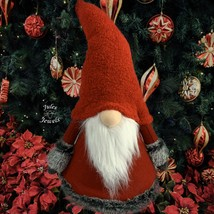 "Northlight 17"" Red Gray Tumbling Santa Gnome with White Beard Christmas ... - $23.76"