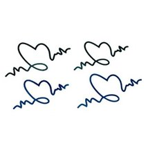 10 Pcs Fashion Waterproof Electrocardiogram Tattoo Stickers Arm Totem