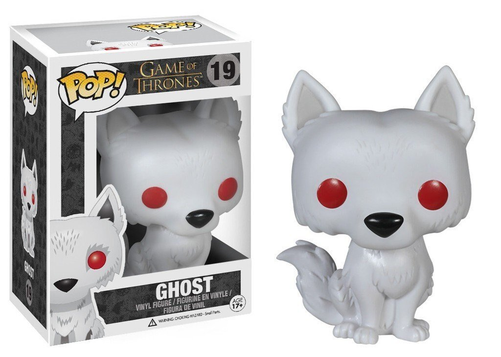 Official Funko pop Game of Thrones - Ghost Vinyl Action Figure Collectible Model