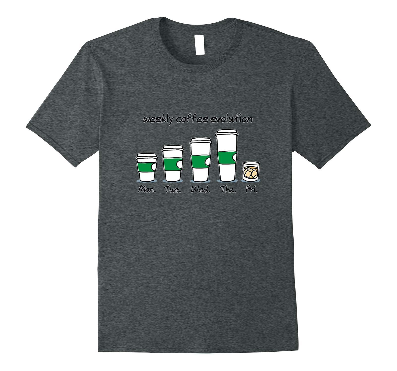 New Shirts - Weekly Coffee Evolution Drink T-Shirt Men