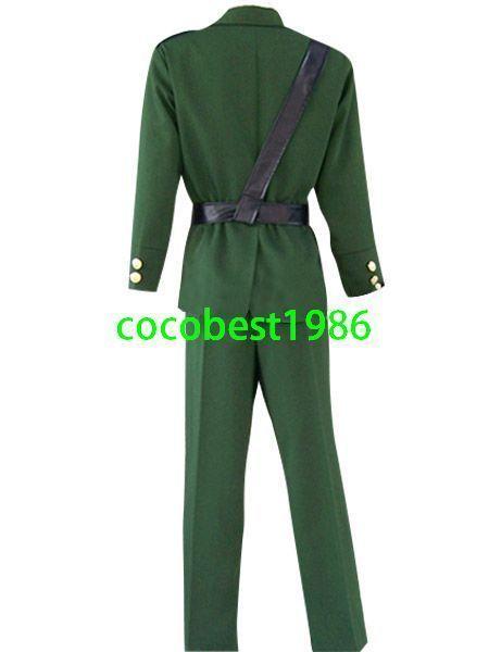 Hetalia Axis Powers England Cosplay Costume Jacket Trousers Belt Tie Shirt