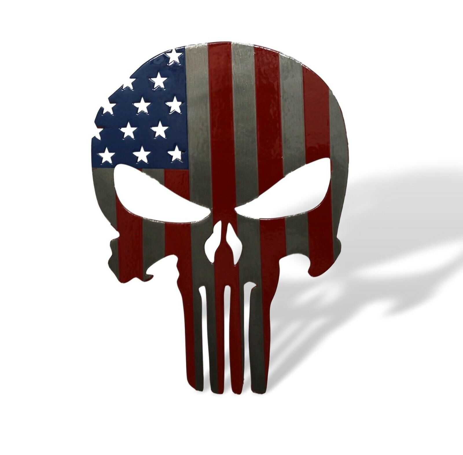 Fox MetalFab Powder Coated Steel Spartan Trailer Hitch Cover//Insert American Flag