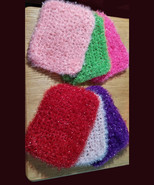 Sparkle Yarn, Rectangle Scrubbies, Use As Dish or Pan Scrubby or Skin Ex... - $1.98