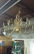 Brass Chandelier Huge 28 Arm 5 ft high over 5ft wide - $604.75