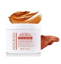 Body Drench Nourish Australian Red Clay Brightening Face Mask, 4 oz