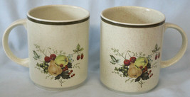 Royal Doulton Lambethware Cornwall LS1015 Real Mug Set of 2 Green Trim - $60.28