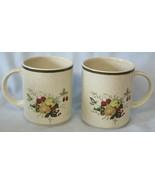Royal Doulton Lambethware Cornwall LS1015 Real Mug Set of 2 Green Trim - $60.28