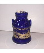 **South Dakota blue toothpick holder state souvenir A2 - $7.91