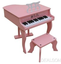 Kids Pink Fancy Baby Grand Piano W Bench & Learning System Schoenhut 3005P - $117.95