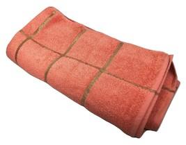 "Martex Bath Towel 72""x36"" Salmon Color with Gold Highlights Vintage Retr... - $64.35"