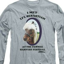 I met Lil Sebastian T-shirt Parks  Recreation long sleeve graphic tee NBC481 image 3