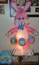 4 Foot Airblown Inflatable Easter Bunny Light Up Indoor/Outdoor - $38.68