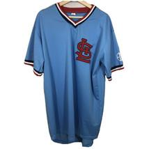 Vintage St. Louis Cardinals Retro Blue Pullover MLB Baseball Jersey Mens XL - $36.47
