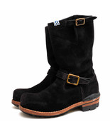 VISVIM Engineer Boots Shoes TWOBOOTS-FOLK Side Zip US9 Mens Suede - $920.70