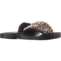 Steve Madden Chains Chain Link Slide Sandals 519, Black, 9 US - $20.15