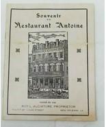 1940s Souvenir du Restaurant Antoine Antoine's Restaurant New Orleans Book - $11.87