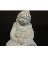 Isabel Bloom Girl Angel Holds Rabbit Figurine 1995 Signed - $15.99