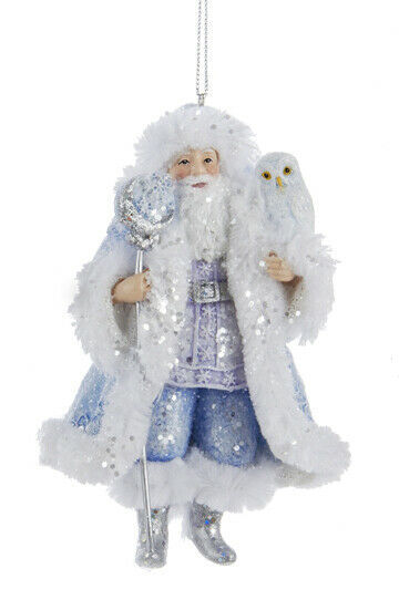 "Primary image for KURT ADLER HAND PAINTED FROSTED KINGDOM 5"" RESIN SANTA CHRISTMAS ORNAMENT B"